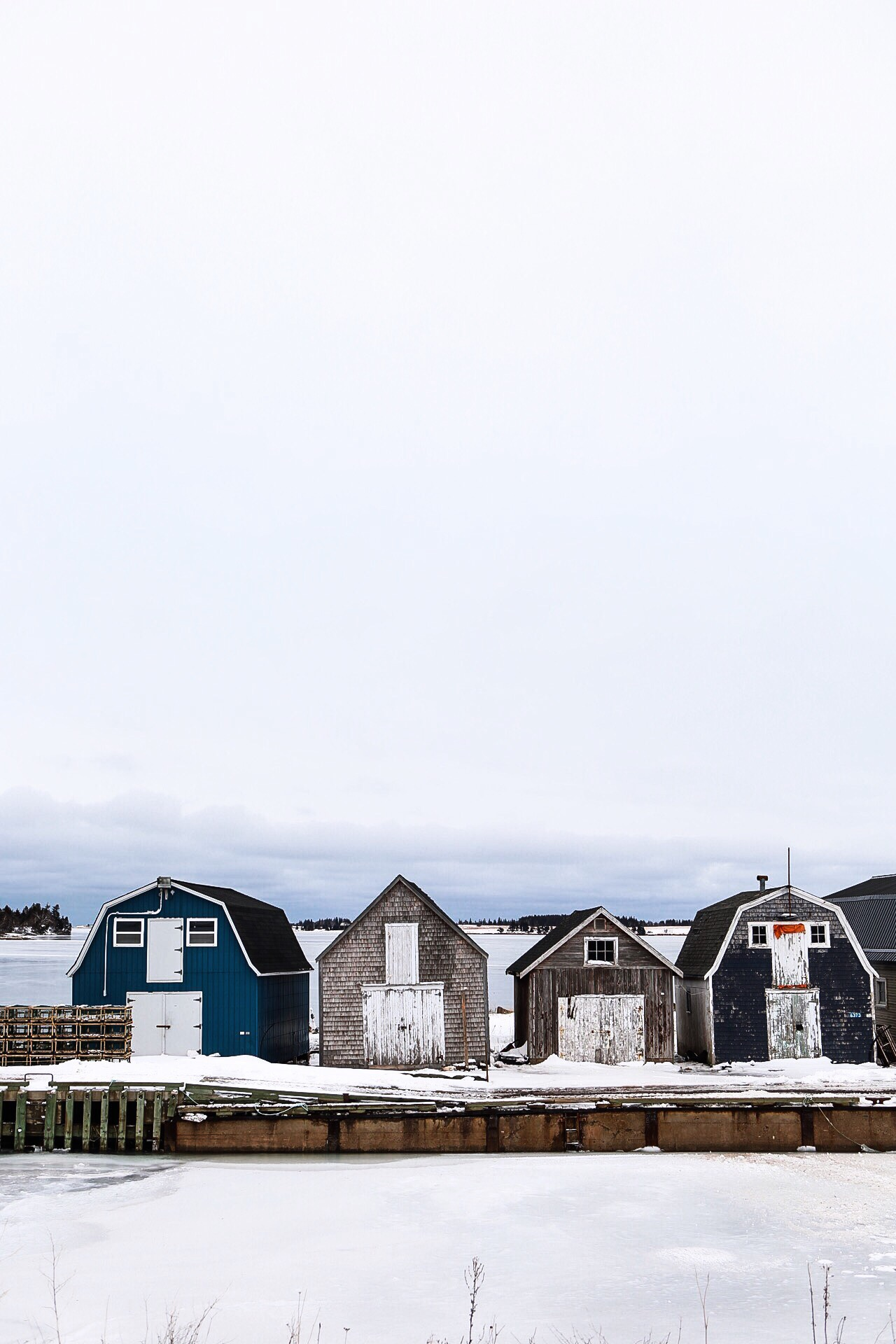 Fishing shacks in PEI.