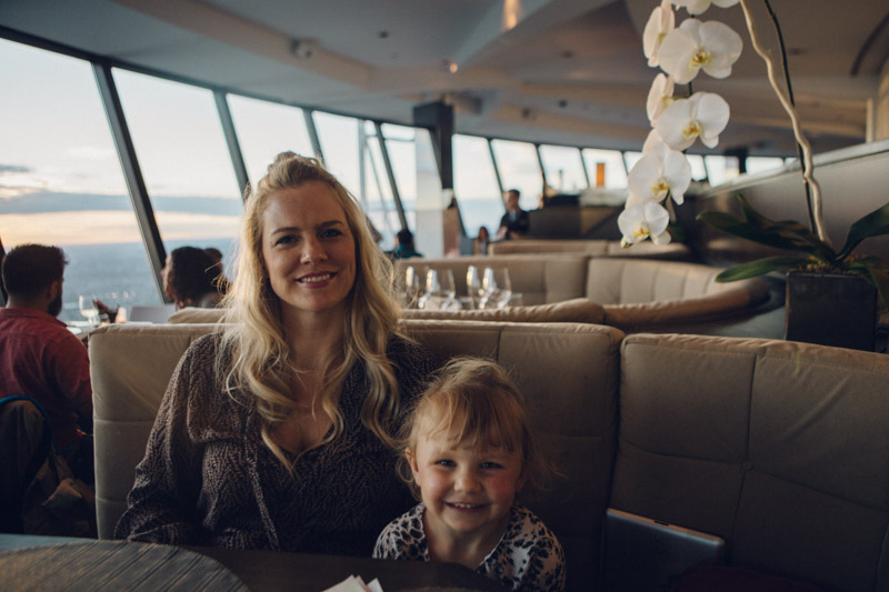 Jessica and Sydney for dinner on top of the CN tower.