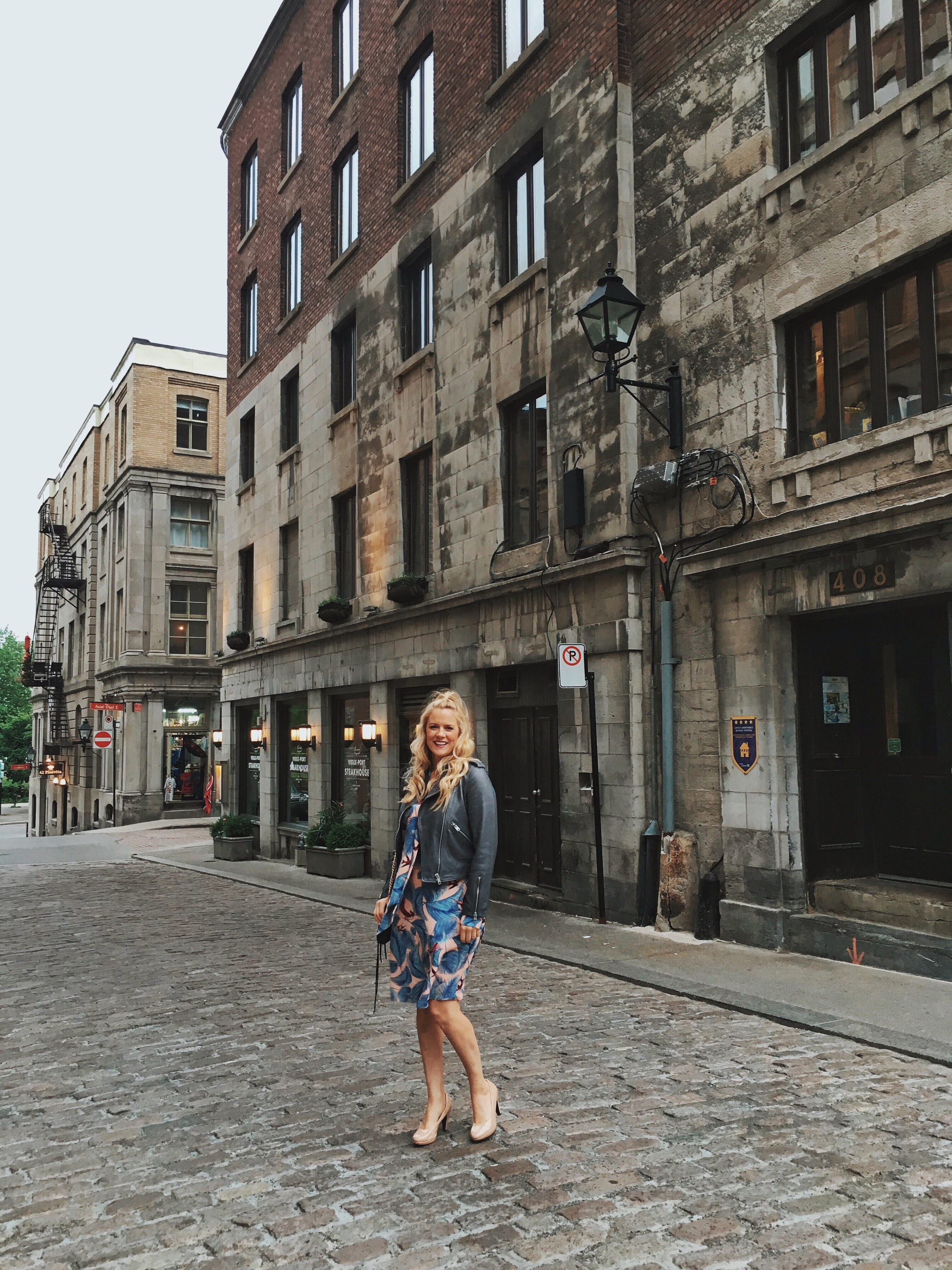 Going for Dinner in Old Montreal.