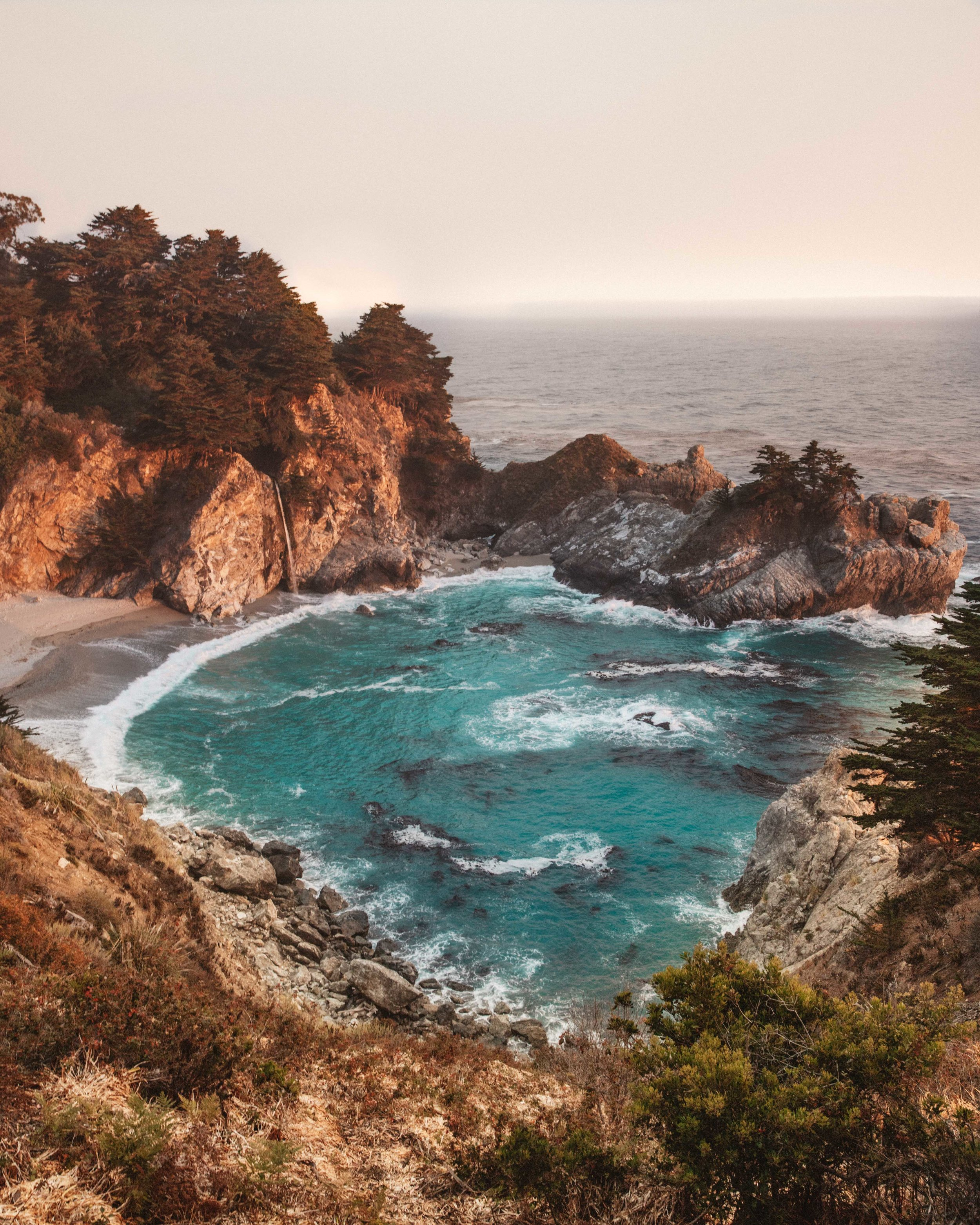 Mcway Falls at Sunset.
