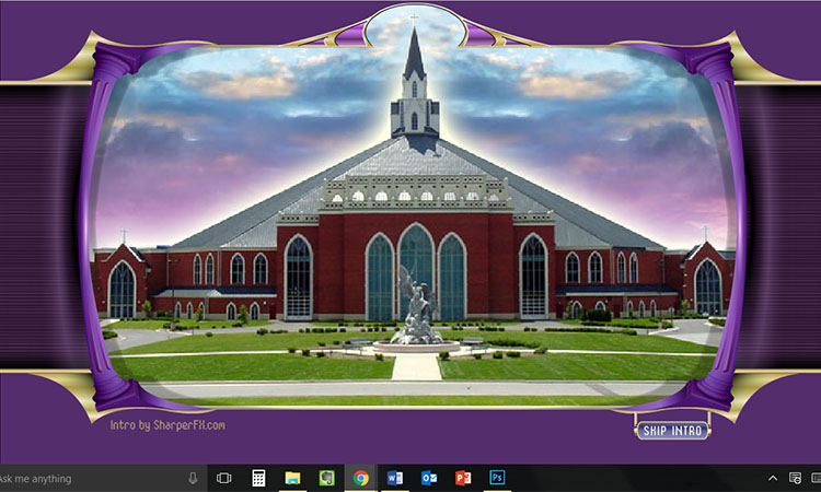 Click for the best, worst church website flash intro ever.