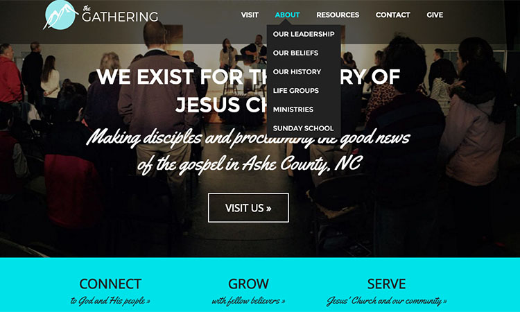 The Gathering Church, West Jefferson, NC. Click of picture for more information.