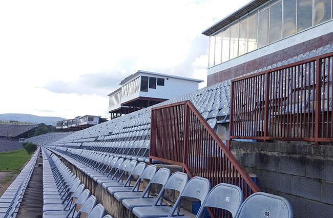 Grandstands at North Wilkesboro Speedway today.