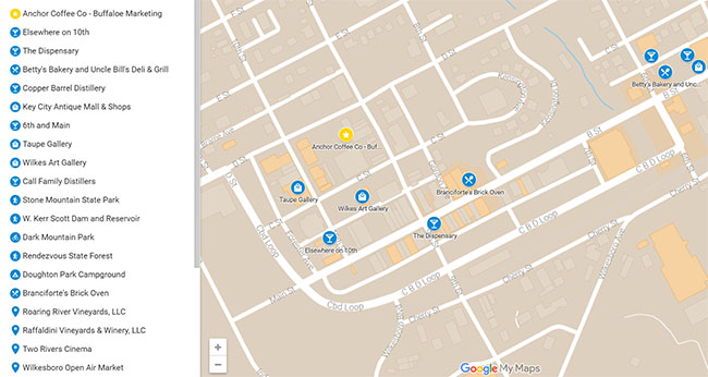 Click to download the Wilkes Map of Awesomeness