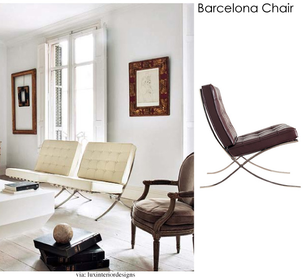 Modern design the Barcelona chair