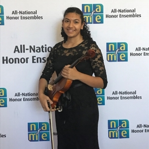 Monica Fleck at the National Association for Music Education All-National Honor Ensemble