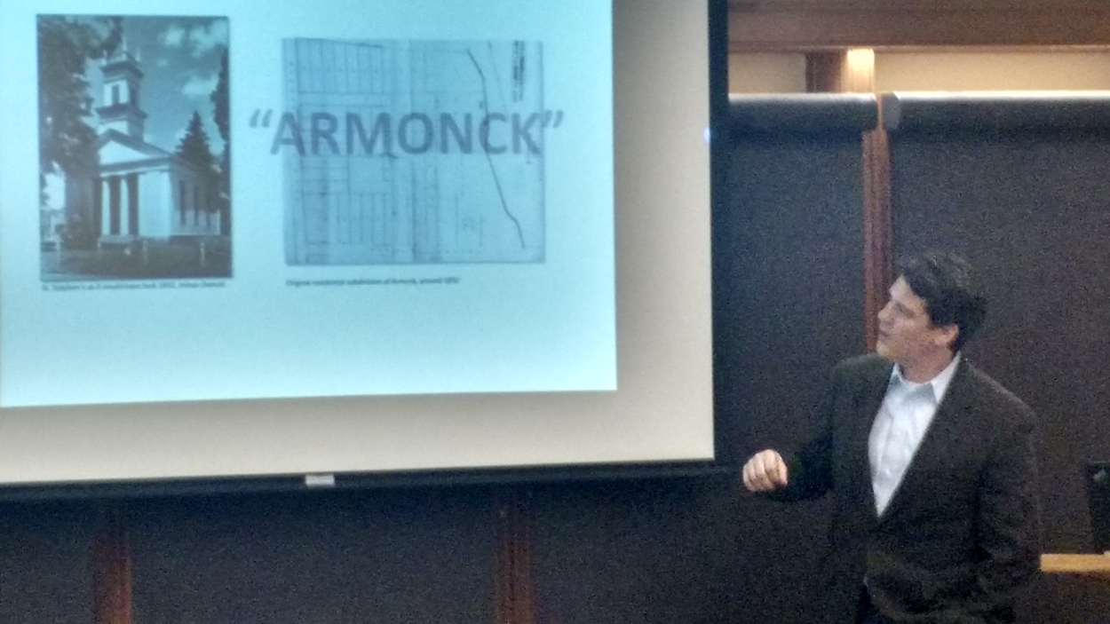"Image 2 : ""Armonck"":  This is not a typo . In 1850, the name originally had a ""C"" that was later dropped."