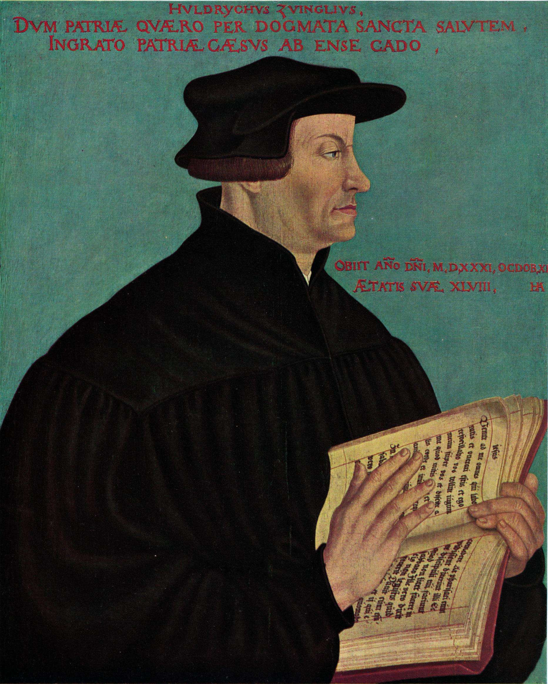 Huldrych Zwingli by Asper
