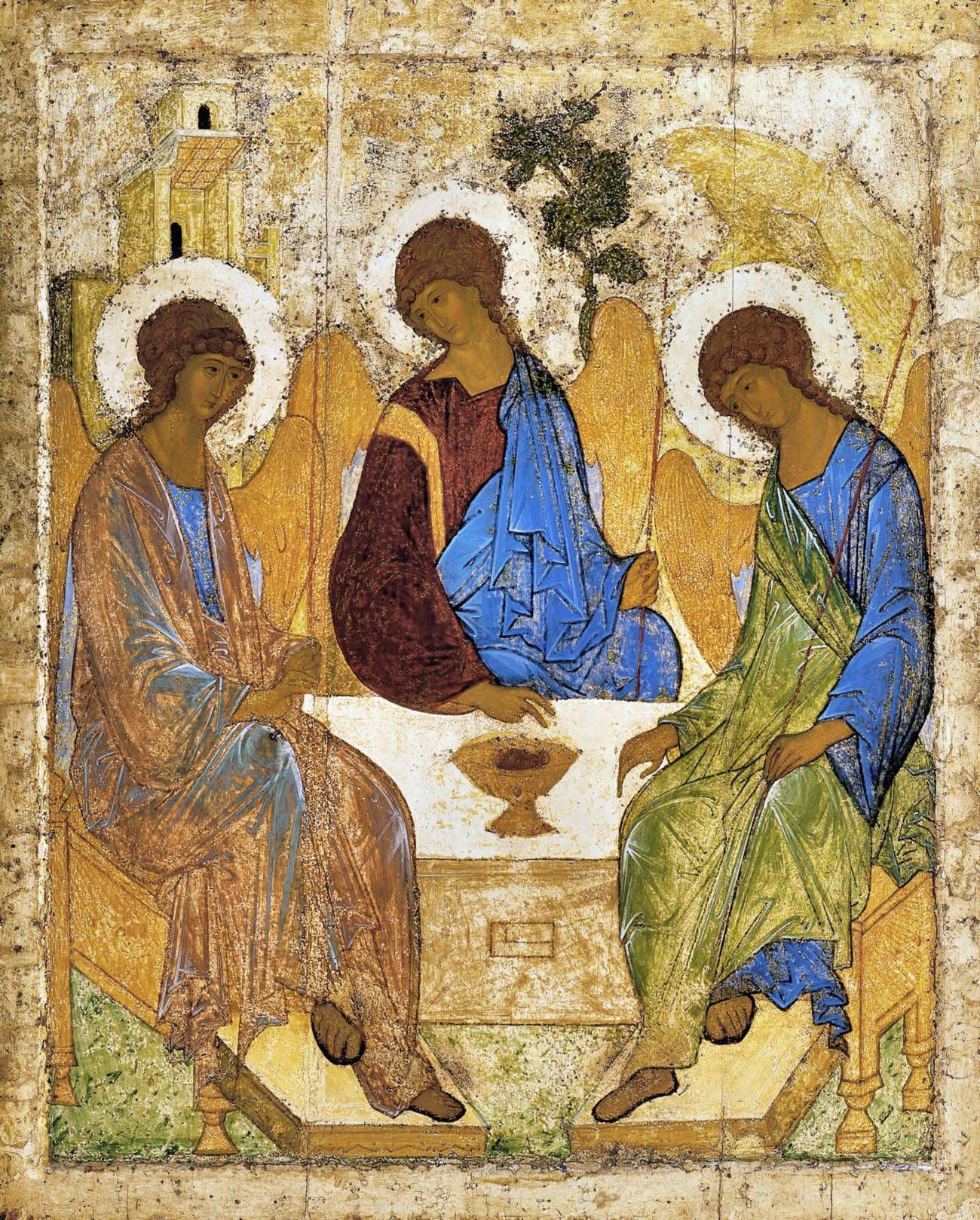 The Holy Trinity by Andrei Rublev