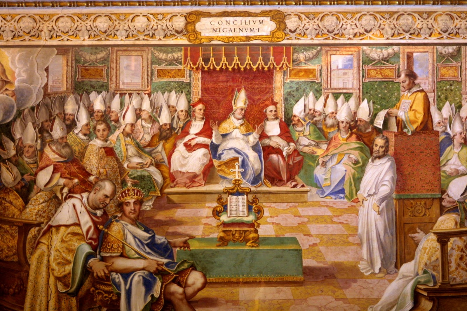 A 16th c. fresco of the Council of Nicaea