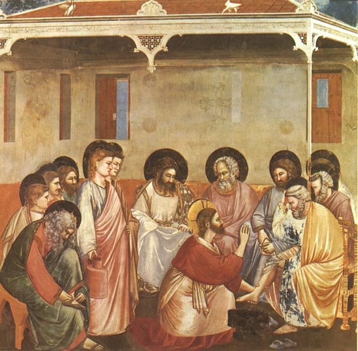 Christ Reasoning with Peter, by Giotto di Bondone