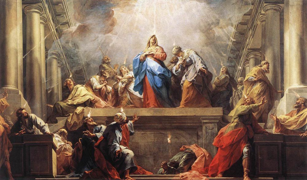The Day of Pentecost by Jean Il Restout