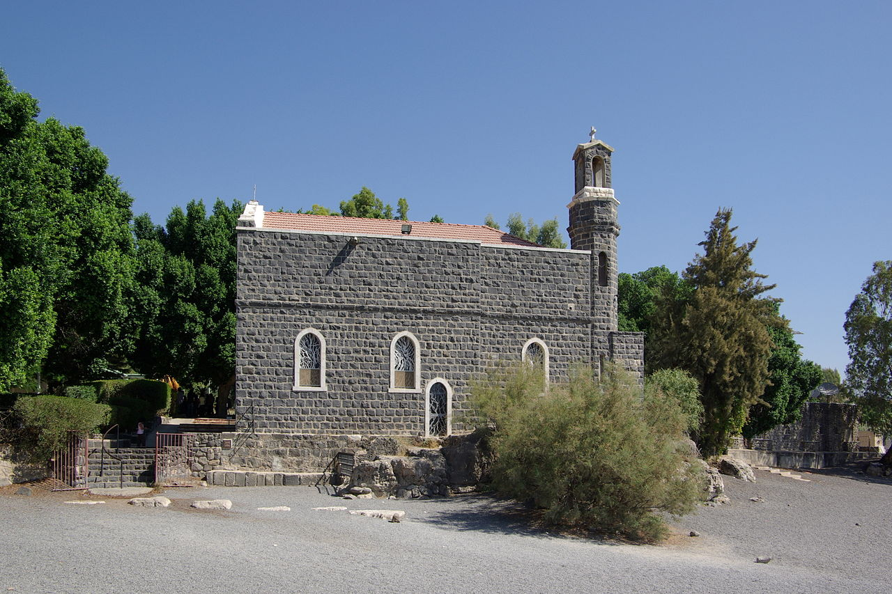 The Church of the Primacy of Peter with the Mensa Christi (the Table of Christ) in Galilee