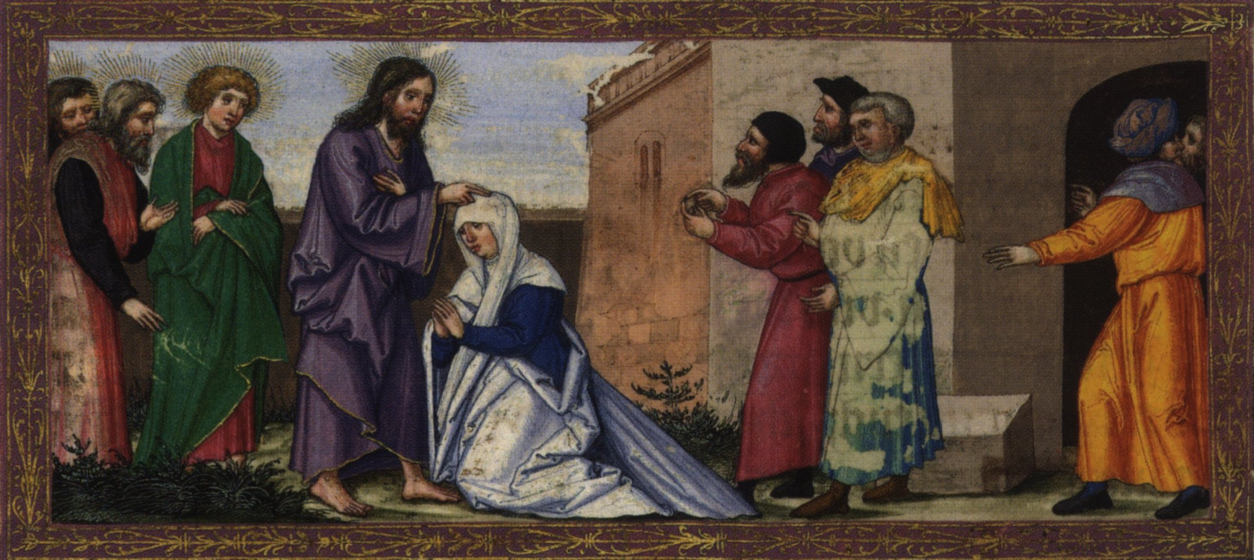 Jesus healing the woman at the synagogue, by Ottheinrich.