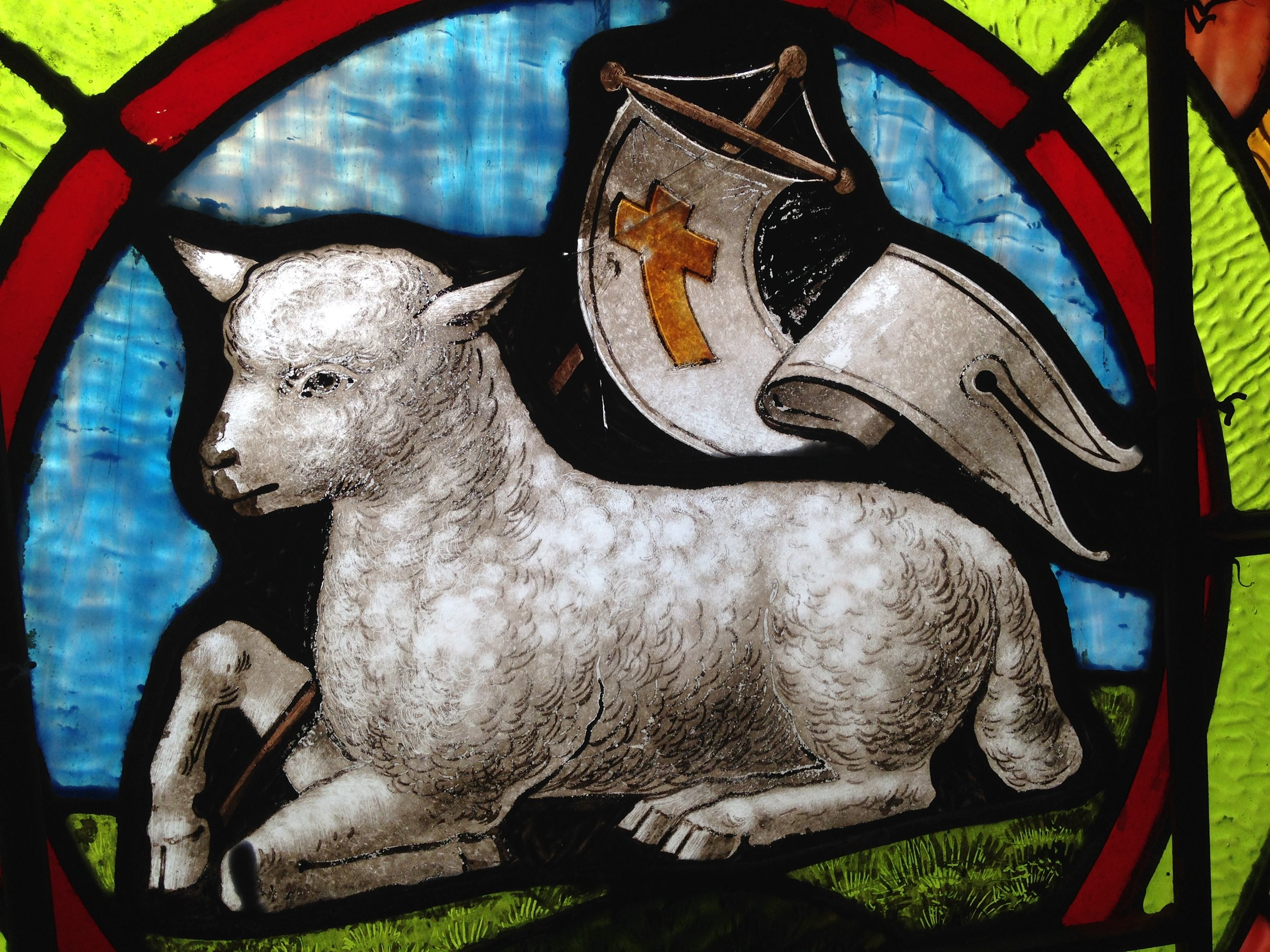 A panel from one of our stained-glass windows.