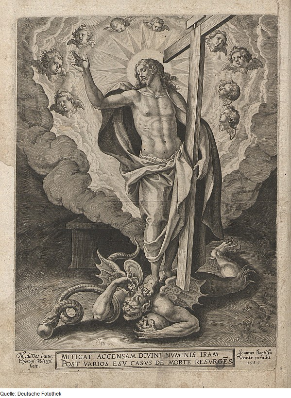 A German engraving from 1583 of Christ the Victor