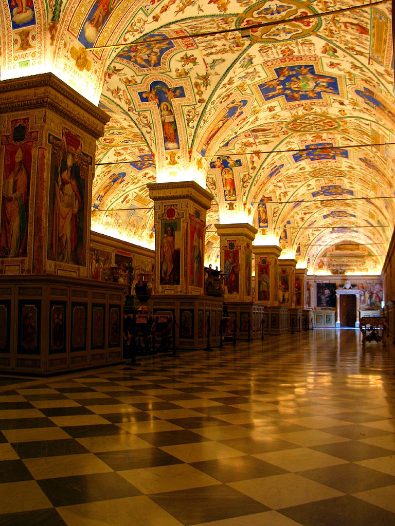 A hallway in the Vatican.