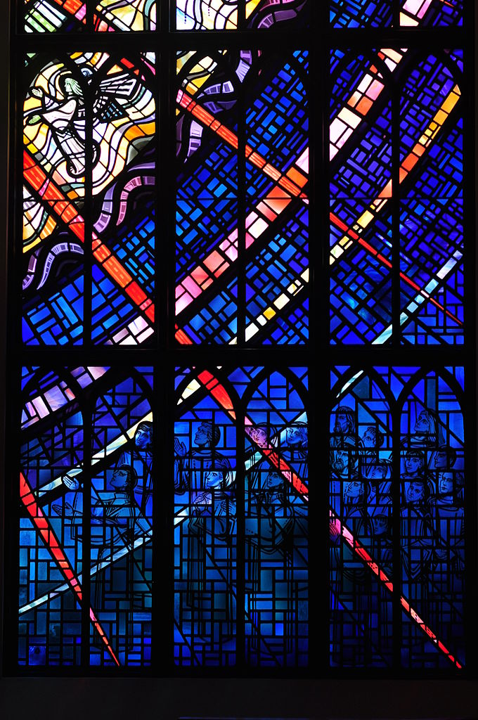 Part of the window in the Chapel of the New Jerusalem, Christ Church Cathedral. Victoria, British Columbia