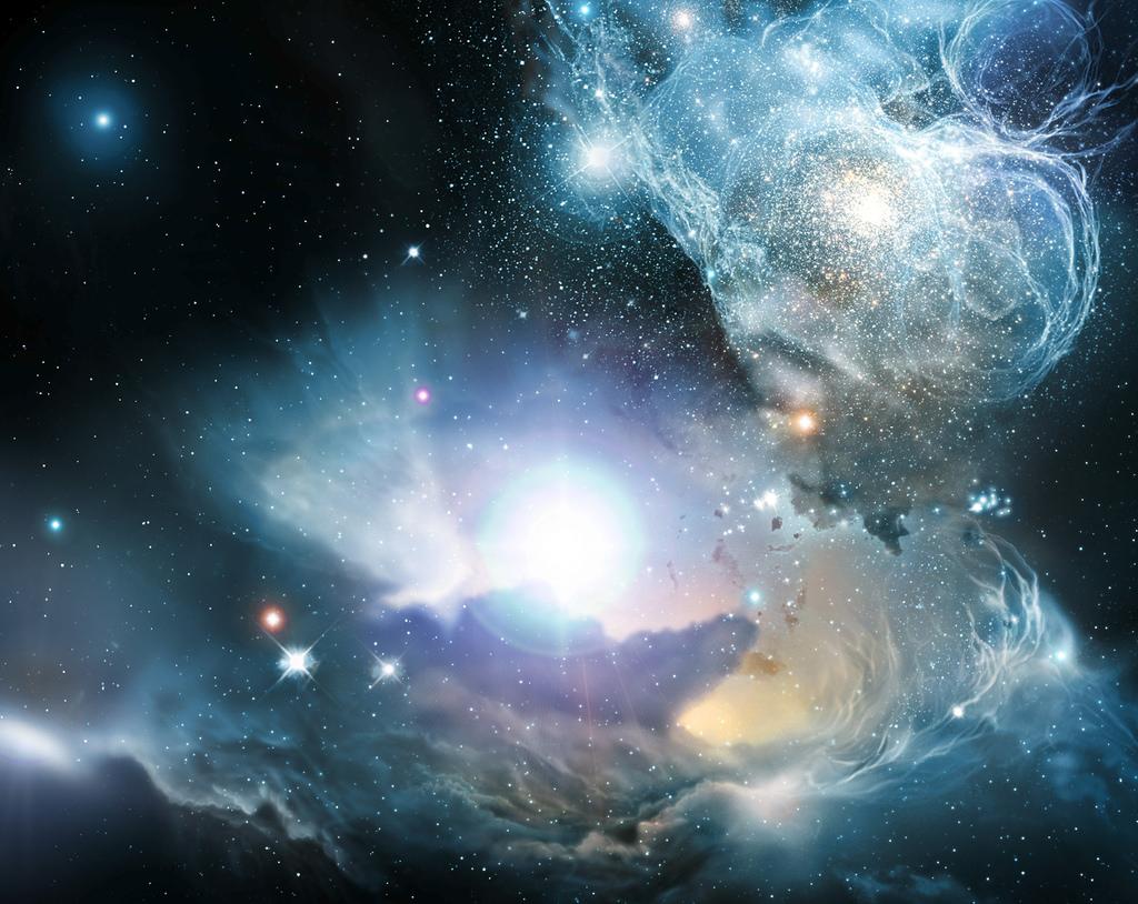 An artist's impression of interstellar space