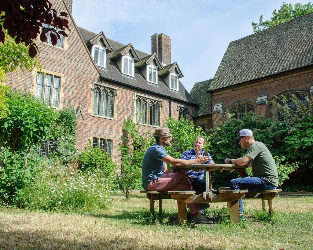 The quad of Westcott House, Cambridge