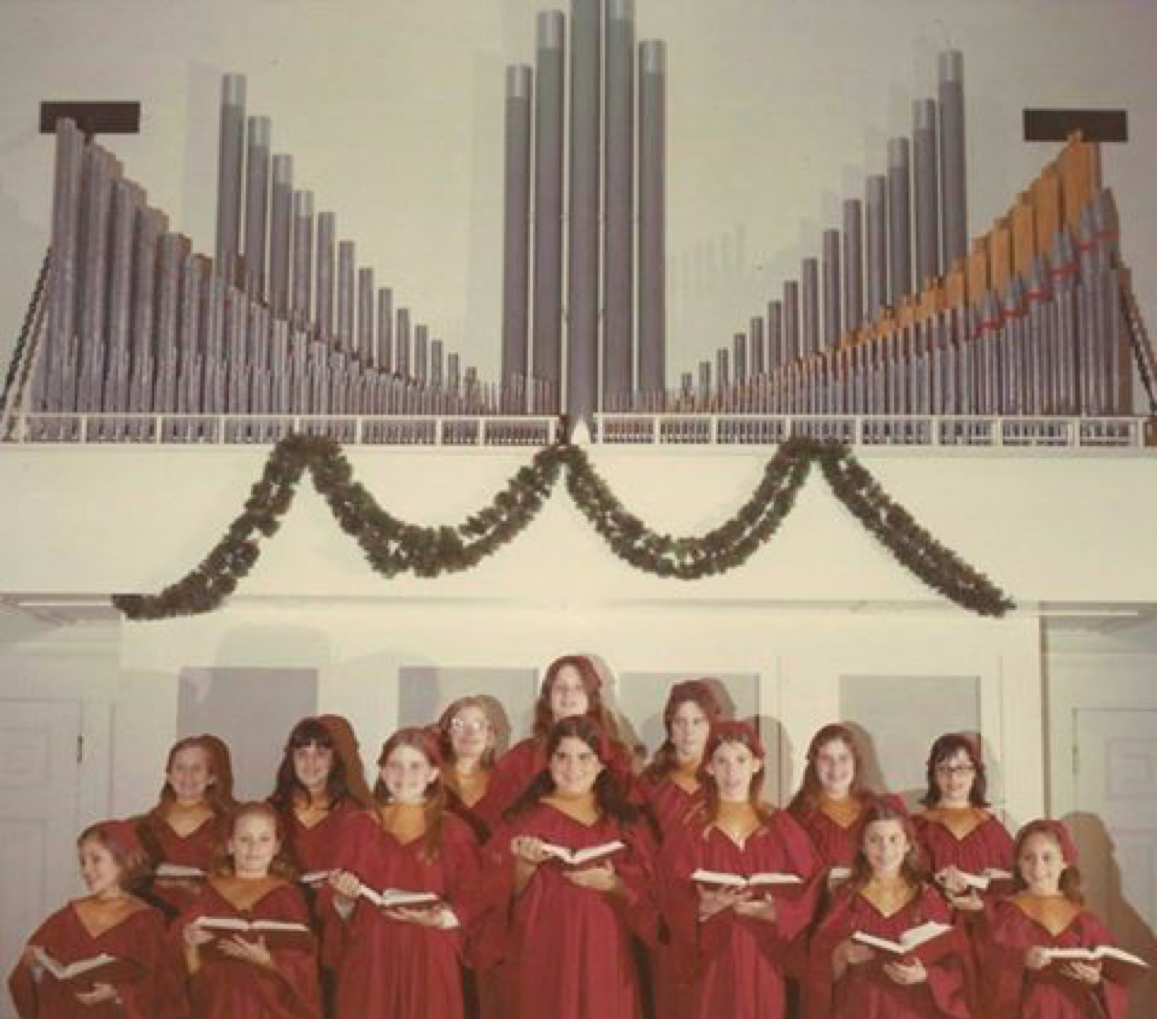 The new Casavant organ with the parish's St. Cecilia children's choir in the early 1970s