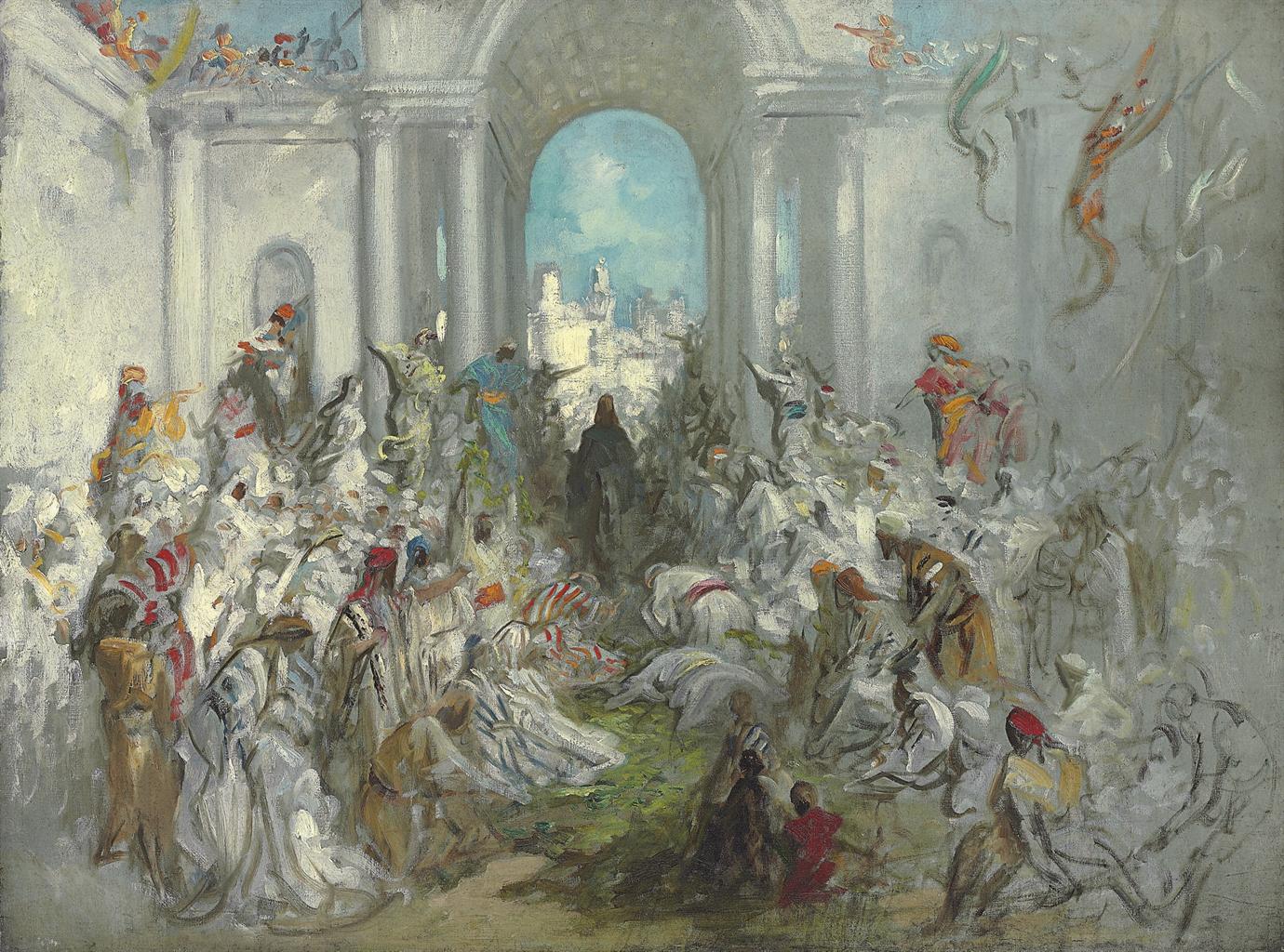 Christ's Entry into Jerusalem by Gustave Doré