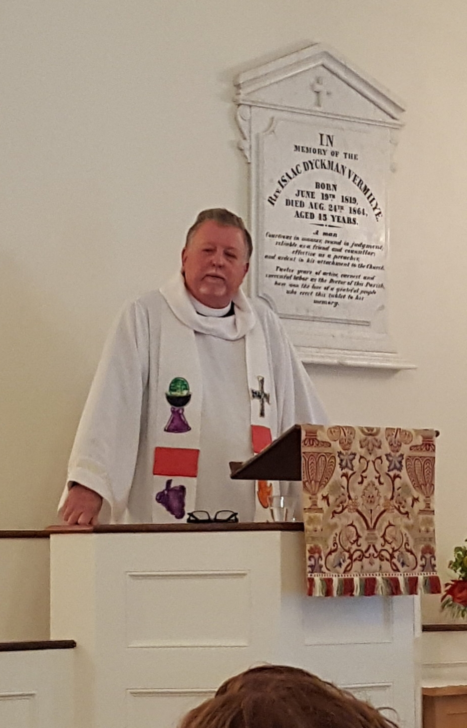 """Father Harry delivered the sermon """"Where Do We Go from Here"""", which can be found  at this link."""