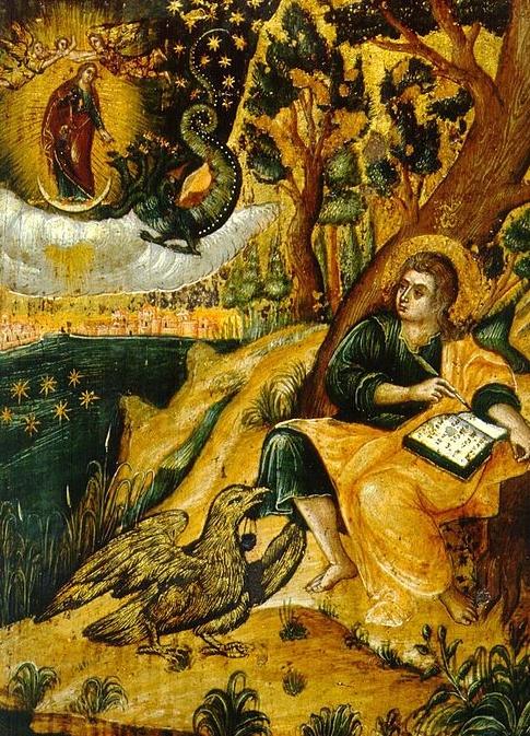 A Byzantine representation of St. John writing down his visions.
