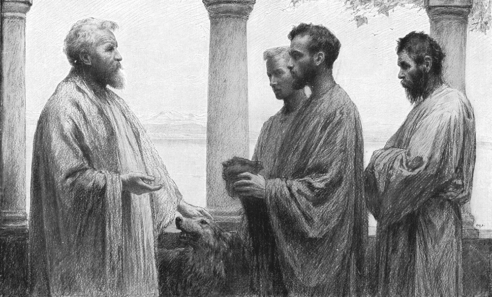 'The Parable of the Talents' by Eugène Burnand (1850 – 1921) reinforces the well-known interpretation of the parable.