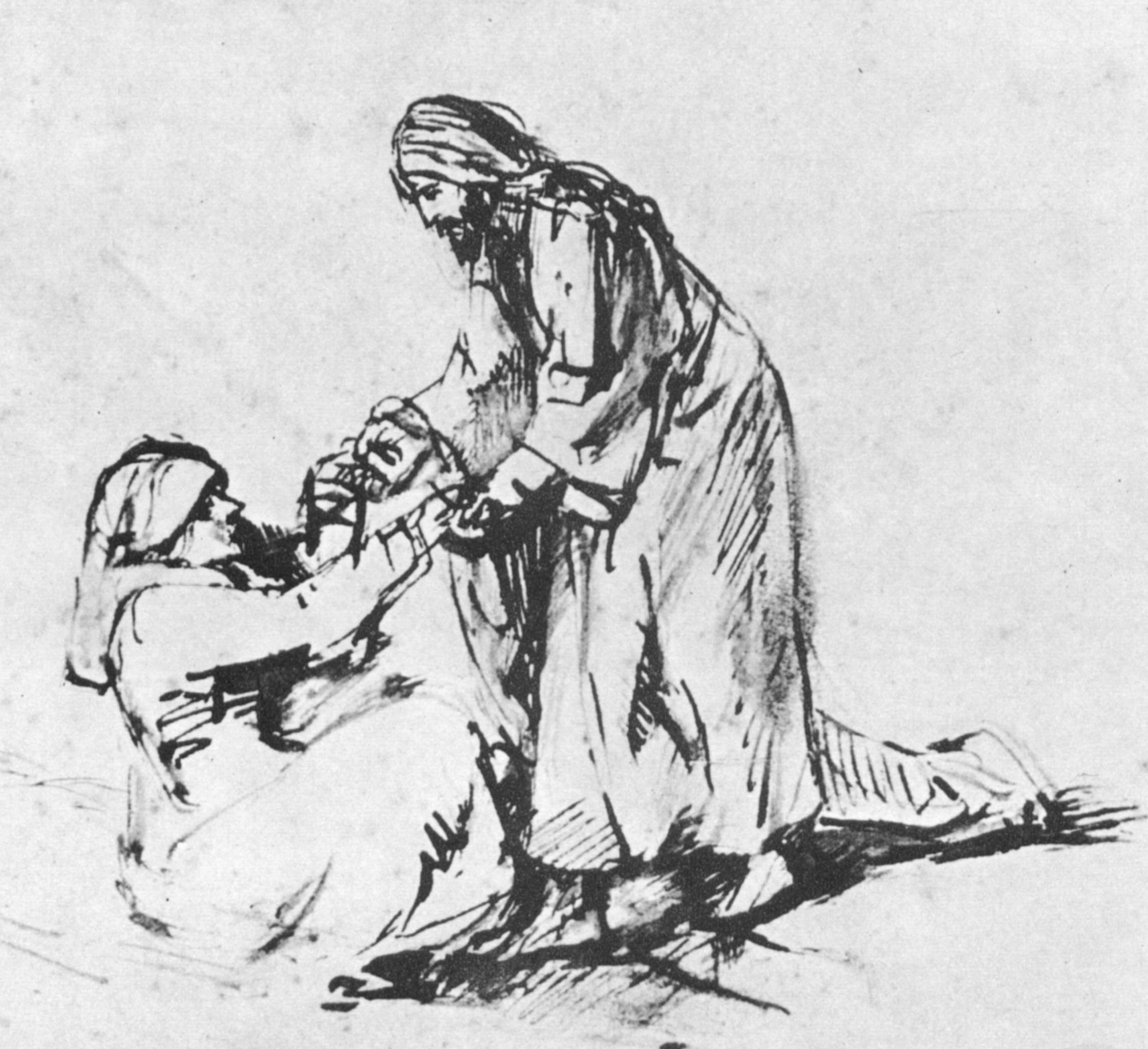 'The Healing of Simon Peter's Mother-In-Law' by Rembrandt van Rijn.