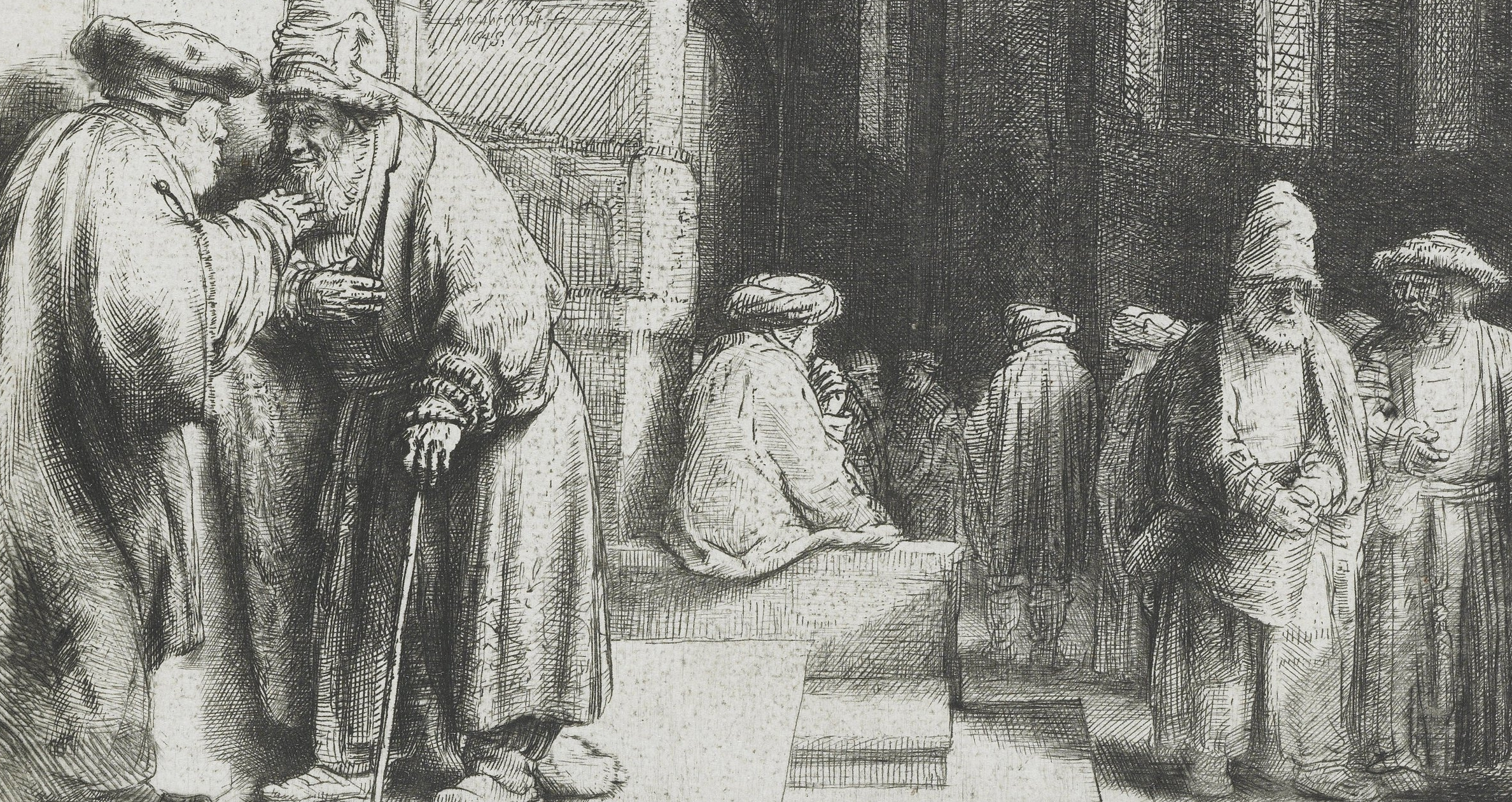 'Pharisees in the Temple' by Rembrandt Van Rijn