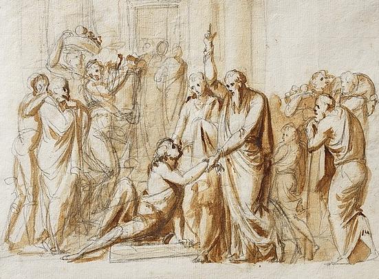 'Peter and John Healing a Lame Man'by Bertel Thorvaldsen, 1793