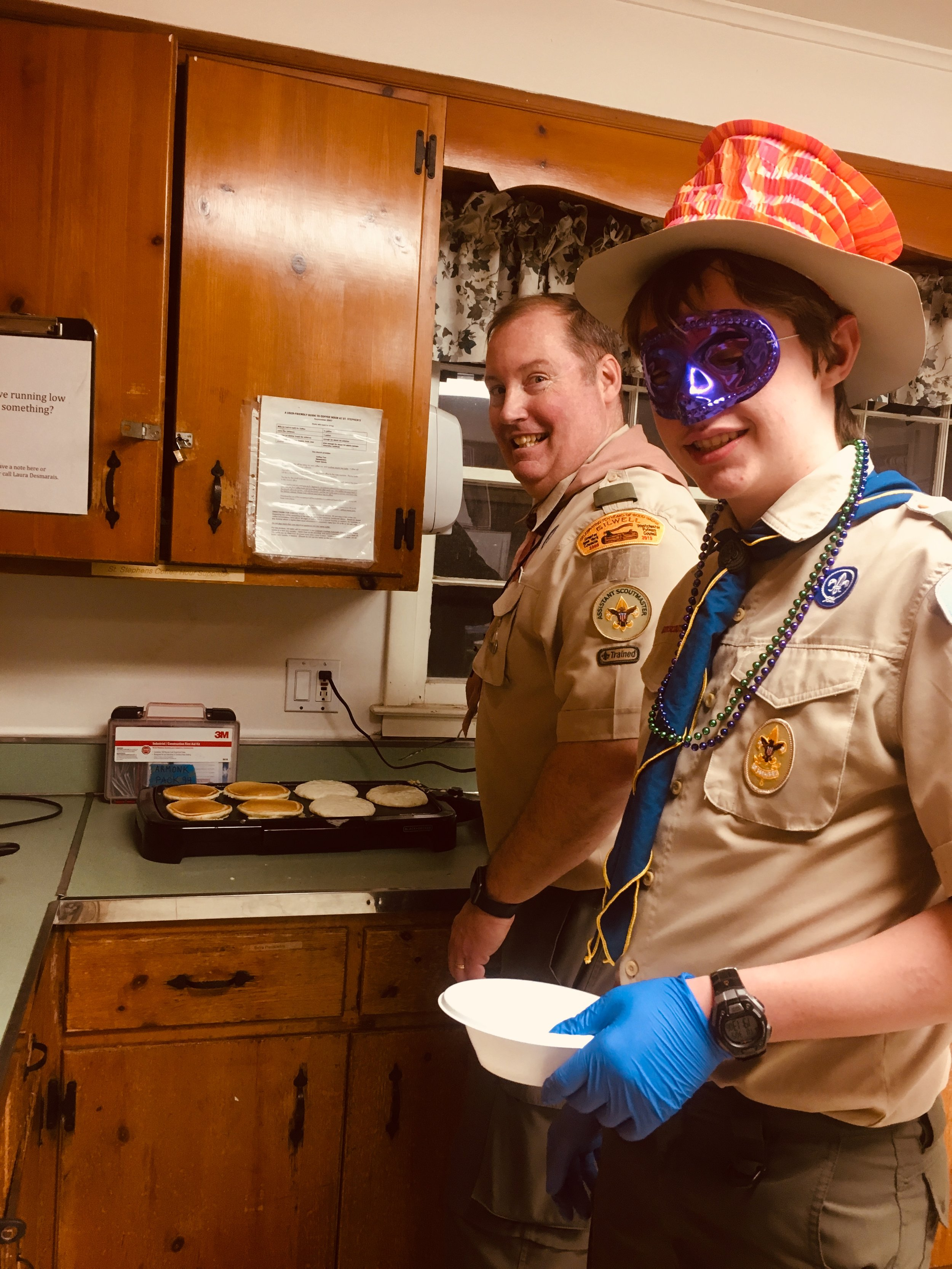 …and our scout chefs were in the spirit of the day!