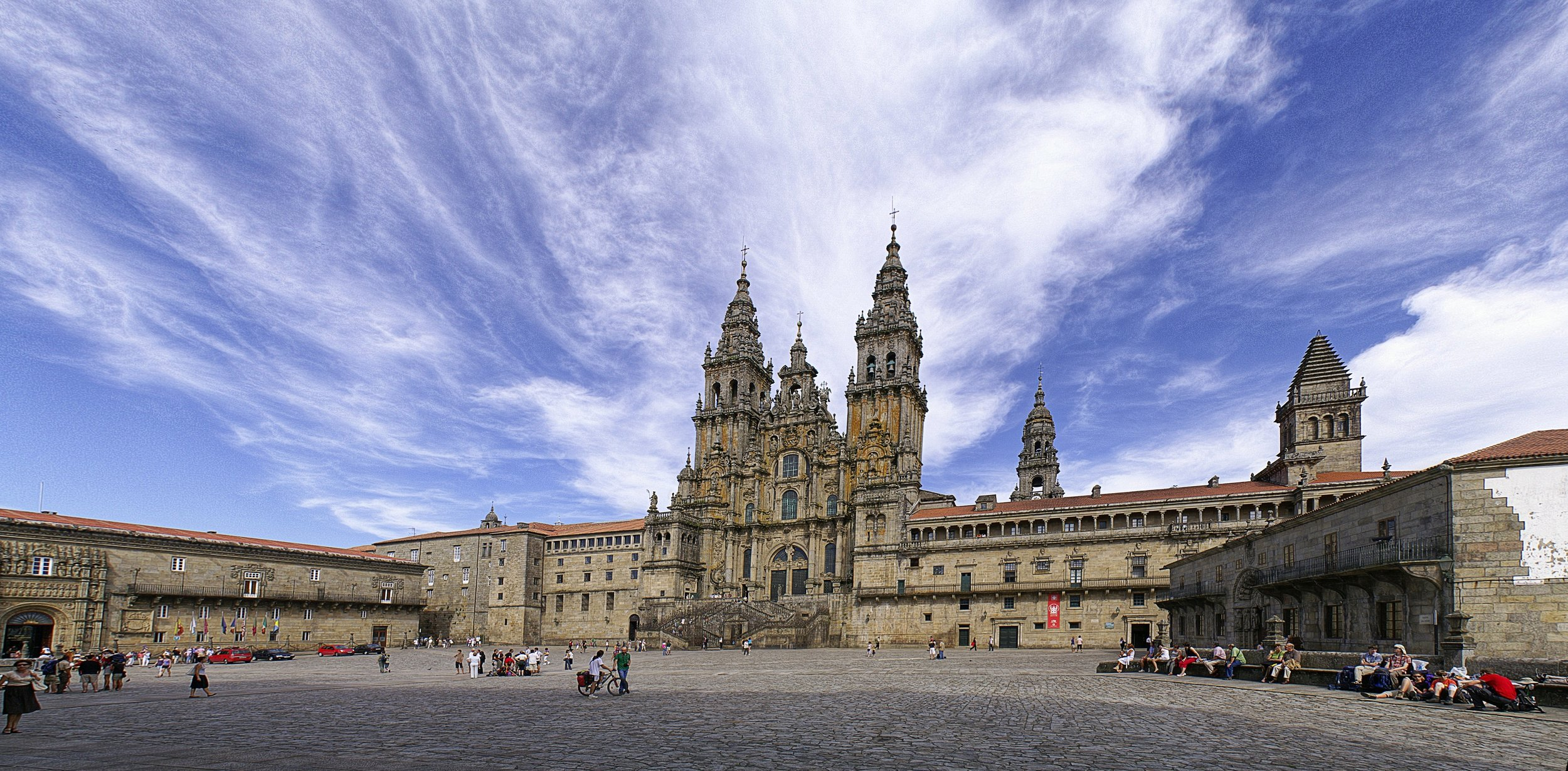 The Cathedral of St James the Great, Compostela, Spain.