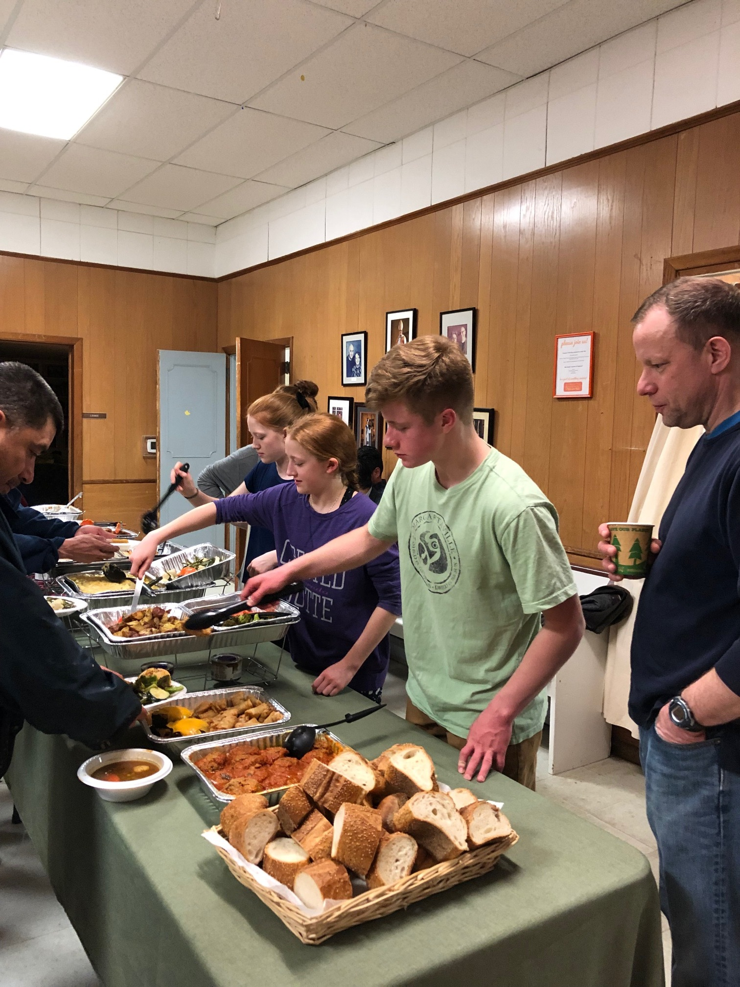 Our Youth Group organized and served one night.