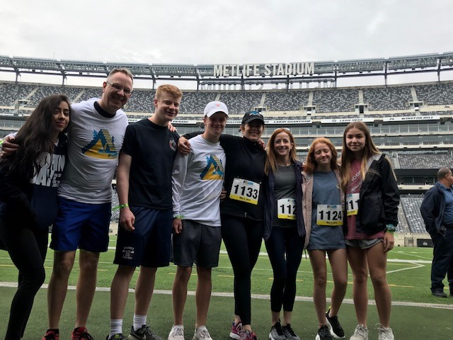 The rain held off, we completed the climb successfully and after a yummy BBQ were able to venture onto the football field and into the Giants and Jet's locker rooms which was a cool experience. (In case you are wondering, the Jets' was more impressive). At press time, we raised $1,647. Thank you to everyone who supported us!