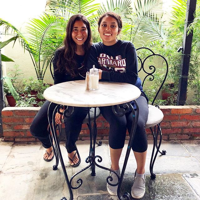 Meet Alexis and Beda. These two bright and compassionate women traveled to Nepal as undergraduate researchers looking at gender-based violence in graphic art campaigns in Kathmandu and Pokhara. Their intellectual curiosity and commitment to women's issues is thoroughly inspiring. We're so honored to have become friends at @five14nepal! 🙌🇳🇵✨💜@alexisizzlemynizzle #Nepal #kathmandu #womeninspiringwomen #womenempowerment #gbv #genderequality #mondaymotivation #mondaymorning #mondayvibes #travelgram