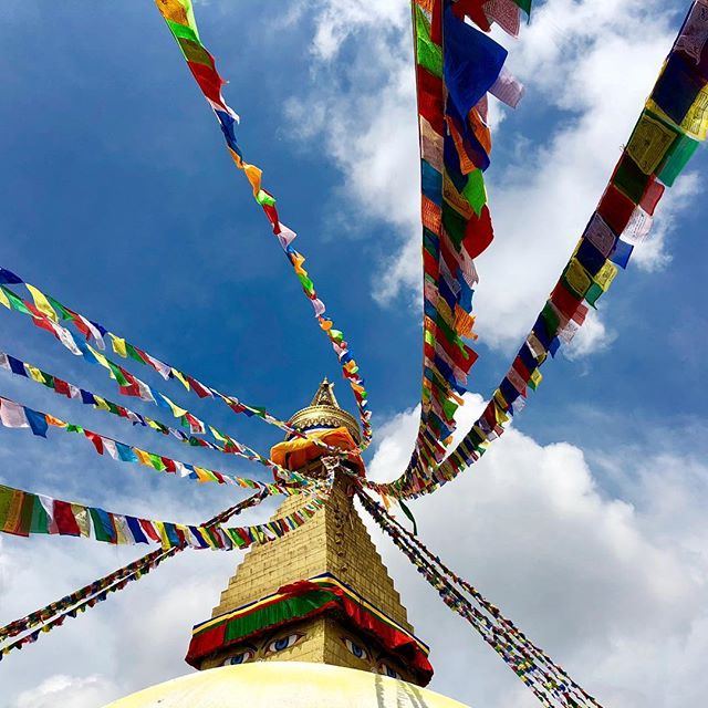Happy Losar and Tashi Delek to all of you wonderful people! The Tibetan (lunar) New Year is a beautiful time to reflect about how much we have and how much we can give to one another. ❤️🙏🌏📿🎇 #losar #tashidelek #losar2019 #lunarnewyear #boudha #nepal #kathmandu