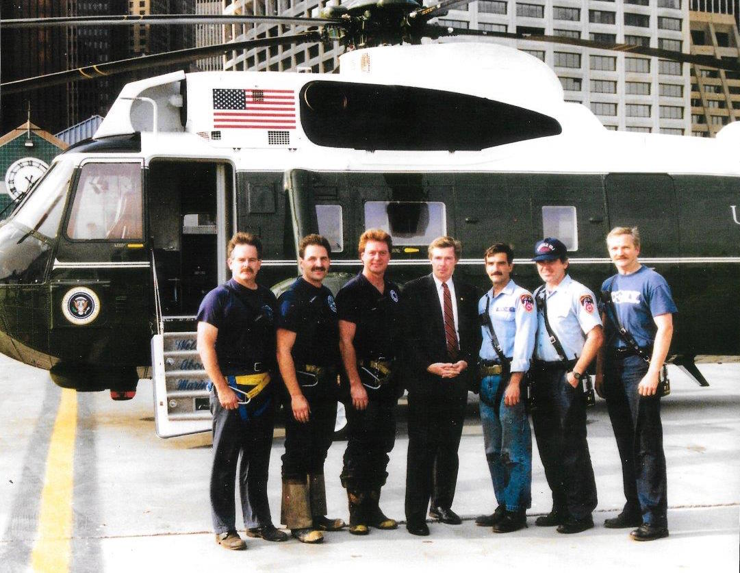Rescue 1 with Marine One (1980s)