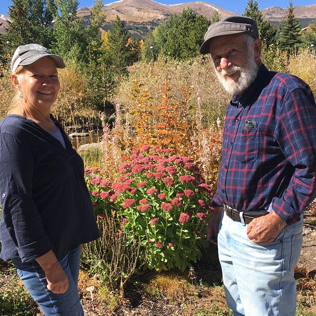 Autumn Joy (sedum) Colorado style!  As our western trip winds down, we give thanks for the beauty we have seen and friends like @carolnken who shared their mountain home with us. #autumnjoysedum #aspencolors #roadtrip