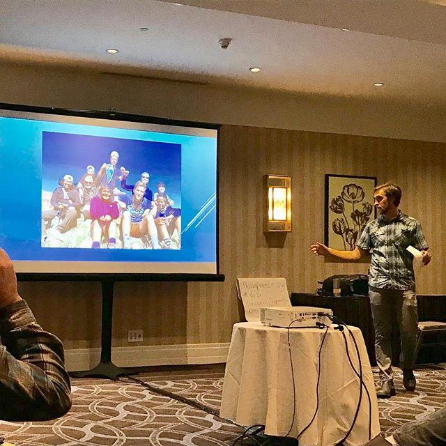 Bix presenting at the 2017 Association for Experiential Education Conference.