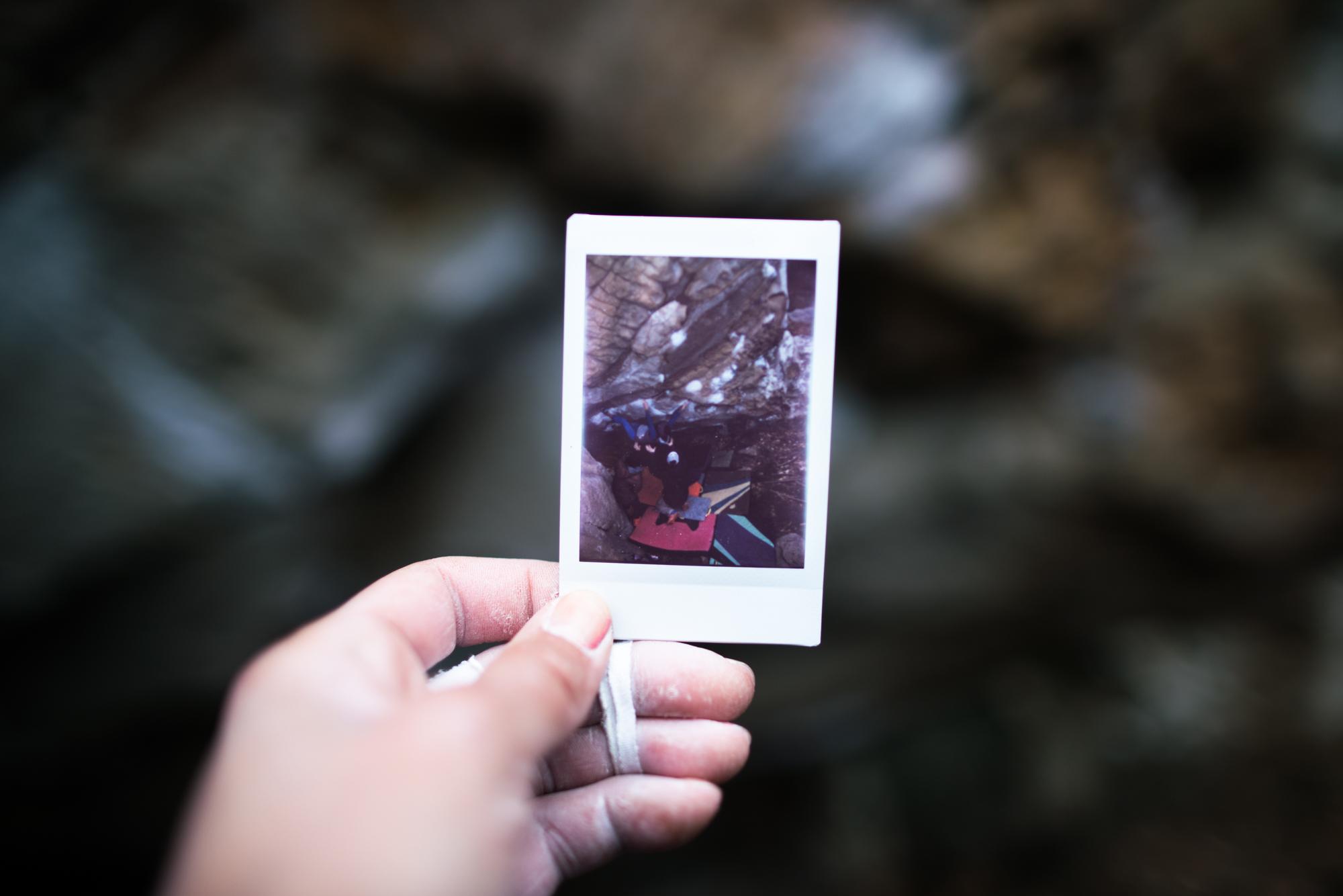 Me on Super Mario. Polaroid by Jessa