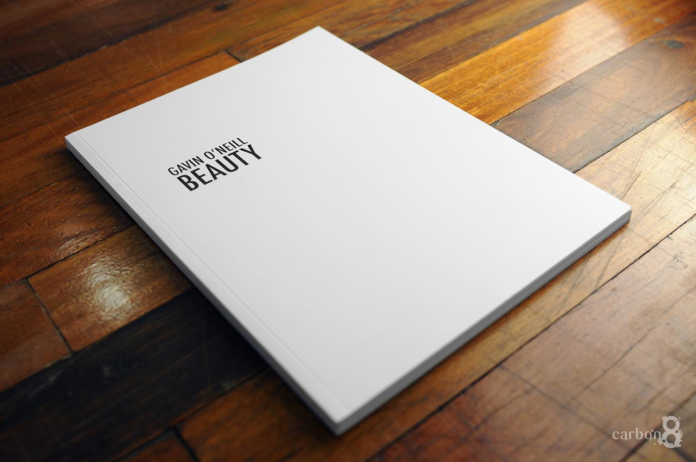 Cover of portfolio book by Gavin O'Neill foil stamped