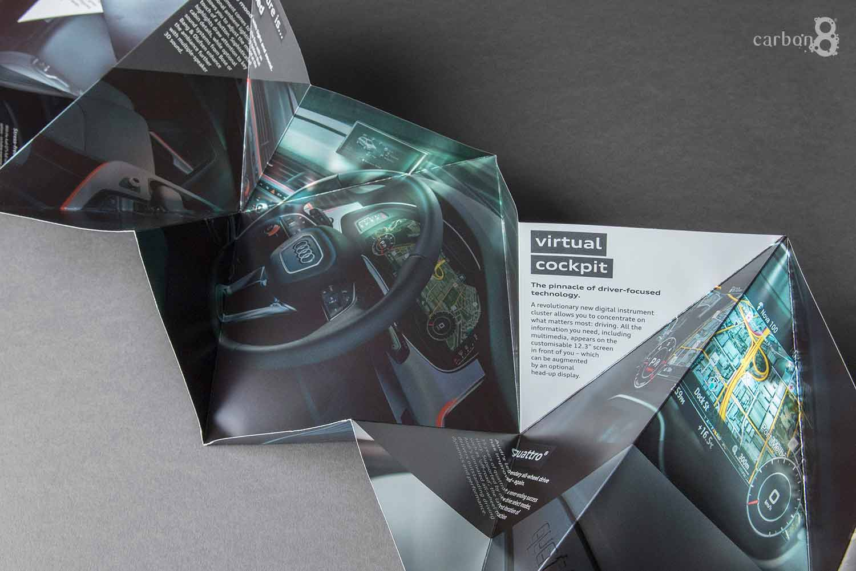 Audi complex fold direct mail inside