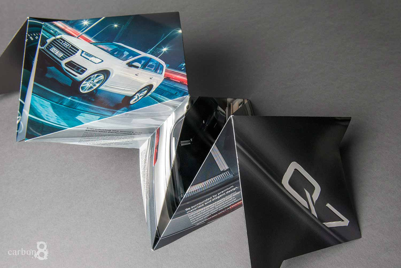 Audi complex fold direct mail semi folded