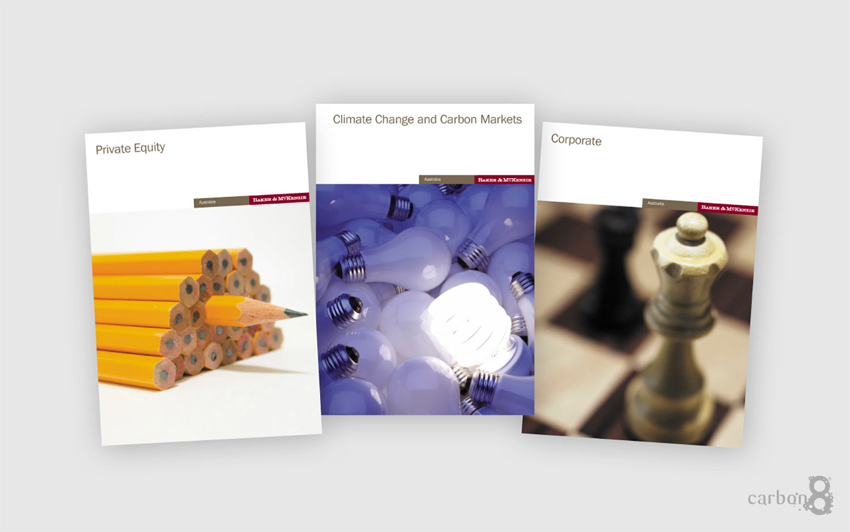 Printed capabilities brochures for Baker and McKenzie