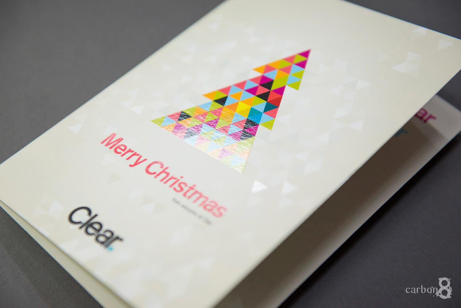 Celloglazed christmas card clear