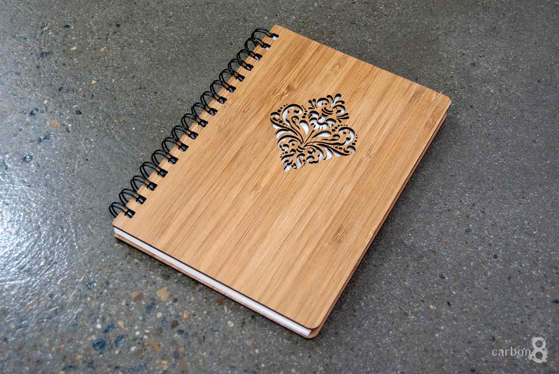 Notepad die cut bamboo