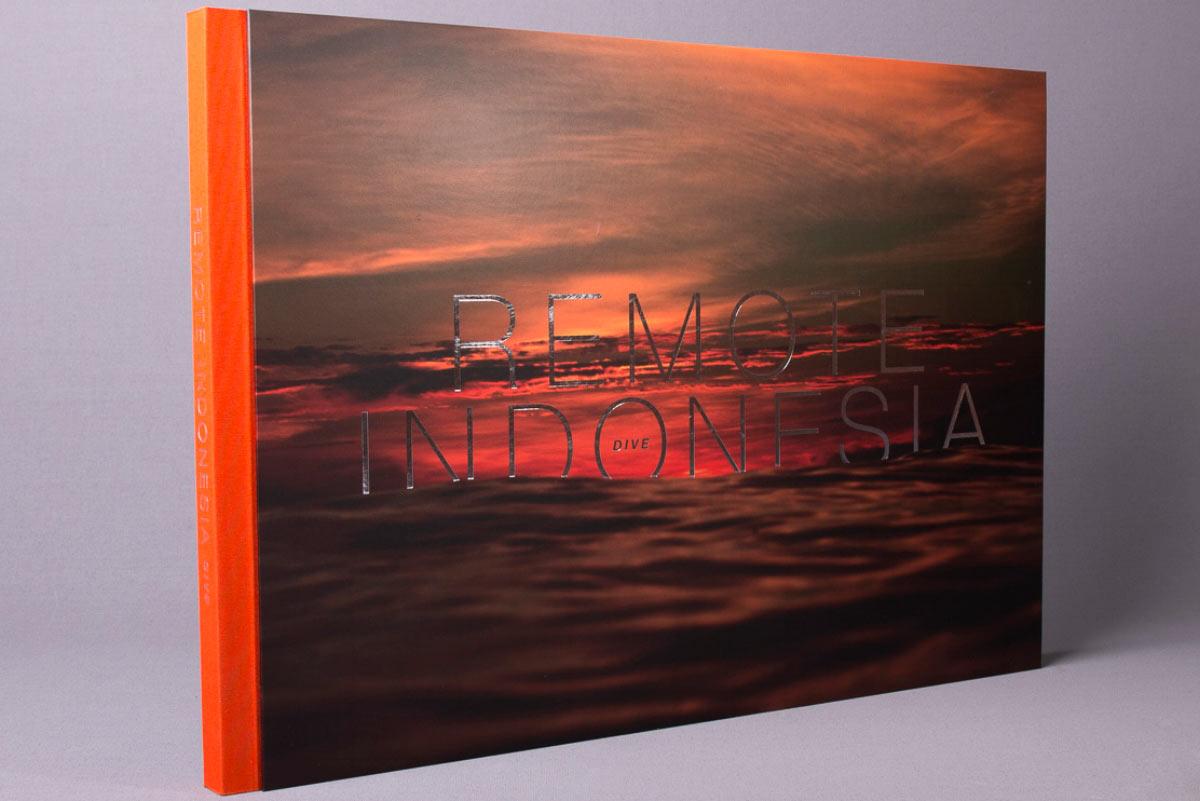 remote Indonesia dive custom case bound book foil