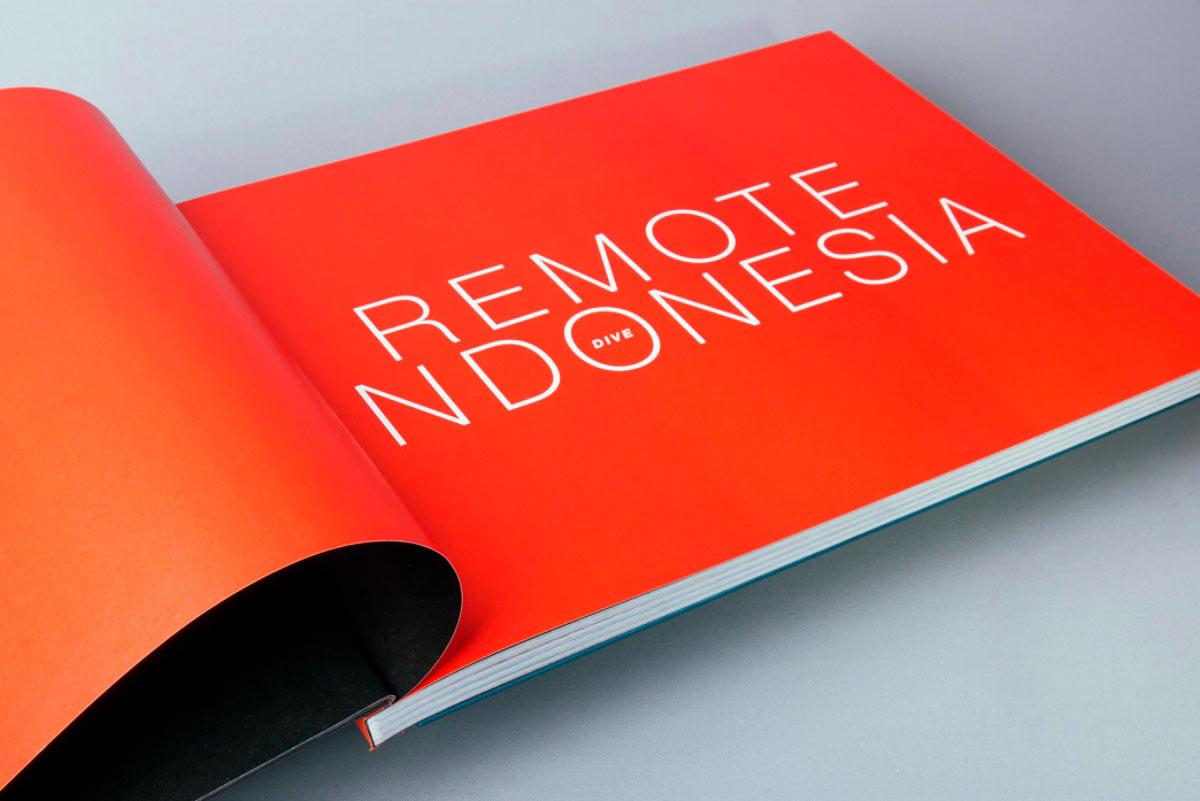 remote Indonesia dive custom case bound book inside